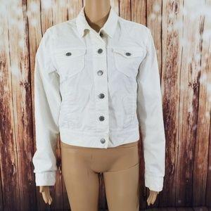 Gap White Jean Jacket XL